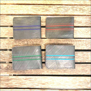 Recycled rubber tyre men's vegan wallets made by disabled Cambodians, turning waste in to something sturdy, useful and beautiful - Samsara Online