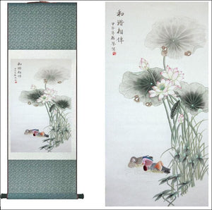 Spring Flower  painting  Home Office Decoration Chinese scroll painting flower art painting Chinese paintingPrinted painting - Samsara Online