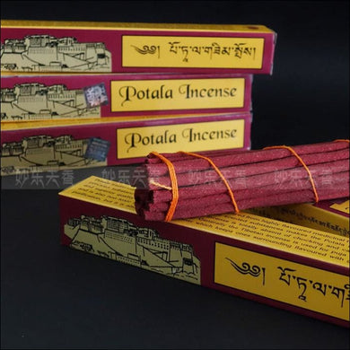Tibetan potala incense hand from highly flavoured medicinal herbs 26cm incense sticks OAE - Samsara Online