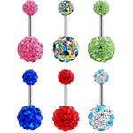 High quality Crystal Ball Piercing Sexy Belly Button Rings - Sleeky