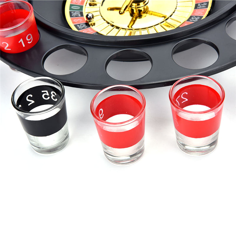 Russia Roulette Drinking Game With 16 Shot Glasses - Sleeky