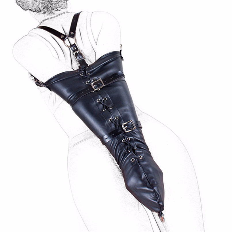Leather Arm and Calf Binder Bondage - Sleeky