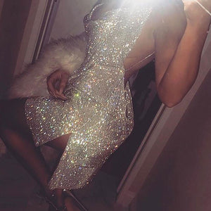 IM THAT BVTCH Rhinestone Dress - Sleeky