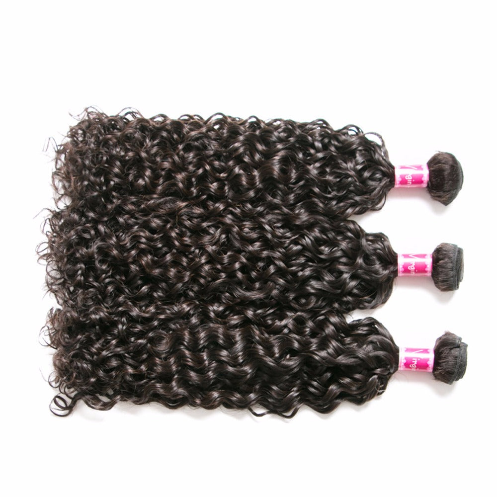 Peruvian Water Wave Human Hair Weave Bundles Extension 10-28inch - Sleeky