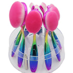 New 5 Piece Soft Make Up Toothbrush Shape Oval Makeup Brushes Set - Sleeky