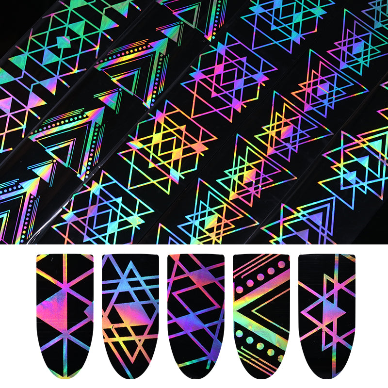 HAZY Holographic Nail Foil Laser Sticker And Decal - Sleeky