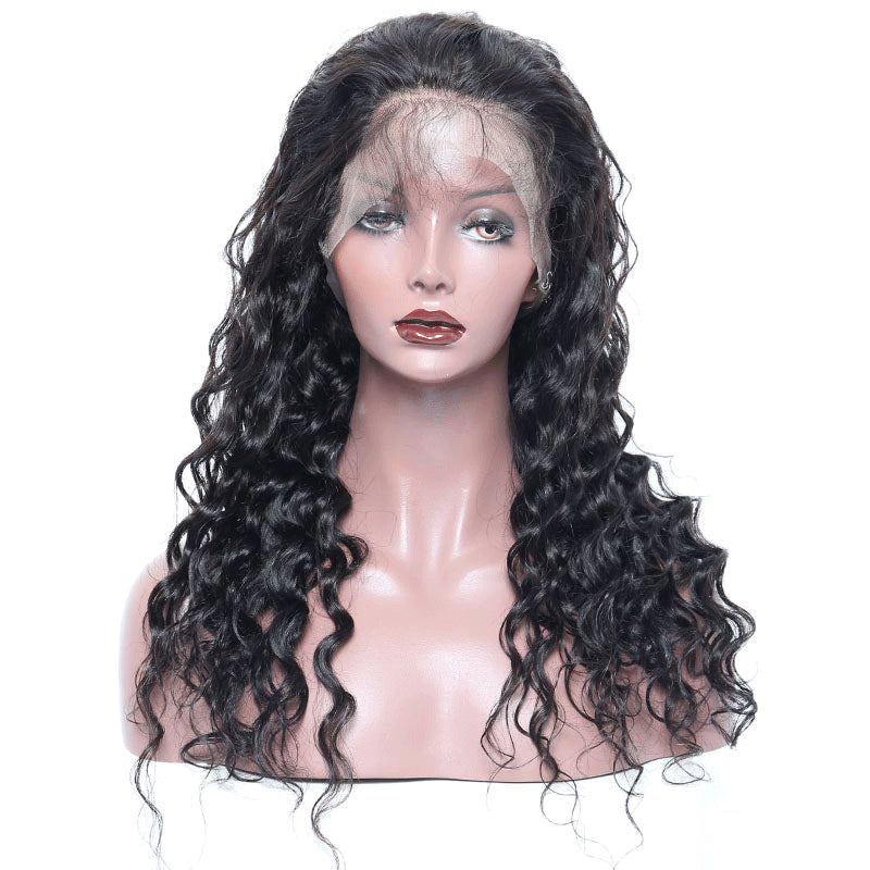 Lace Front Human Hair Wigs Loose Wave 150% Density - Sleeky