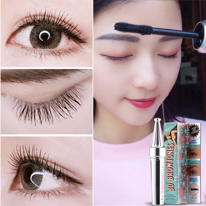 Black Mascara 3D Fiber Lashes Natural Extended Waterproof - Sleeky