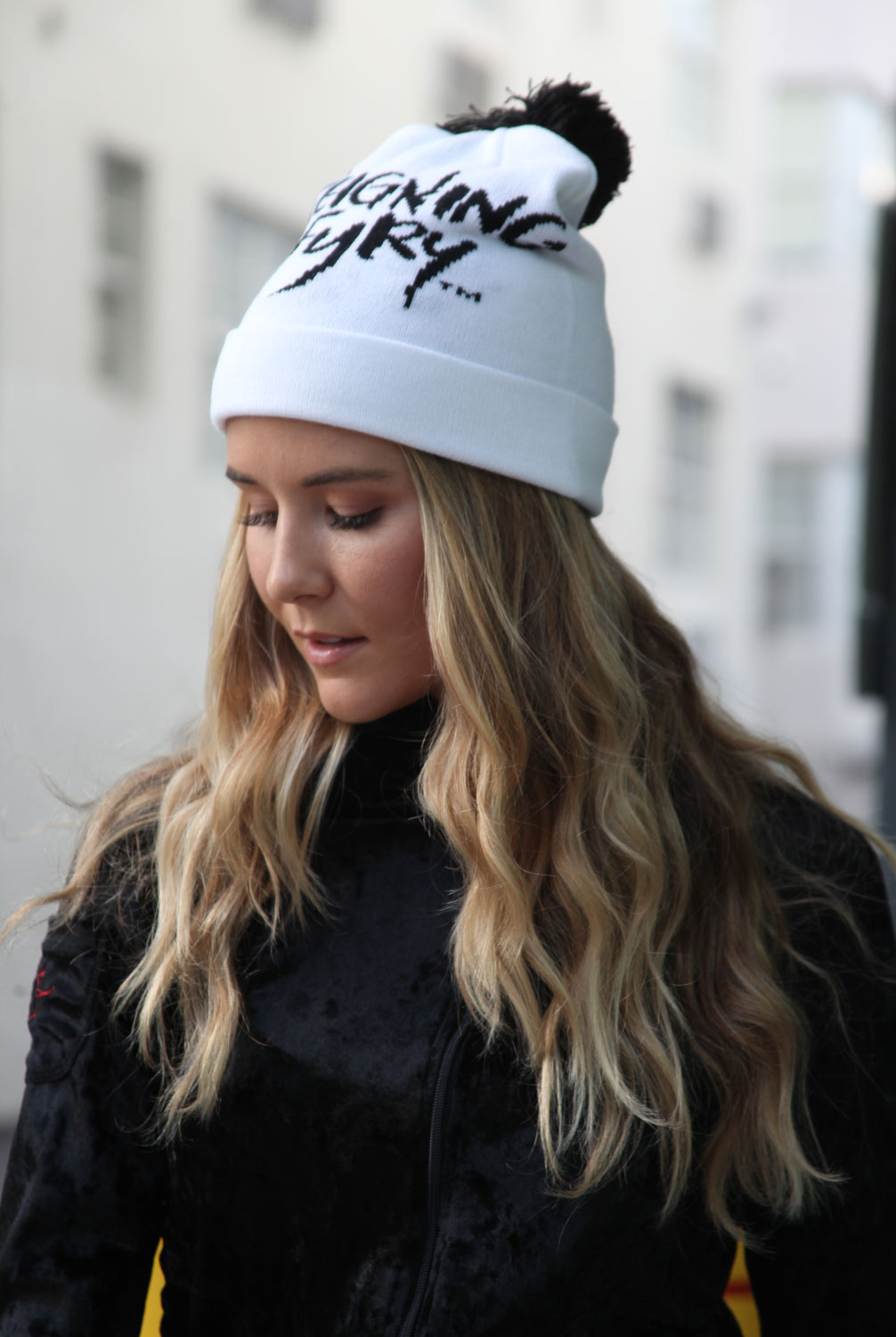FEE FI FAUX FUR BEANIE