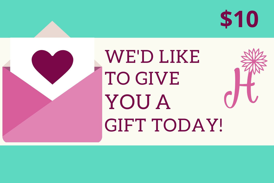 A Gift Card - Hannah's Shoebox