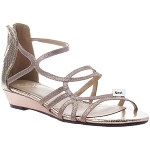 Gold Dressy Sandal for Special Occasion for Tween Girls in Larger Sizes
