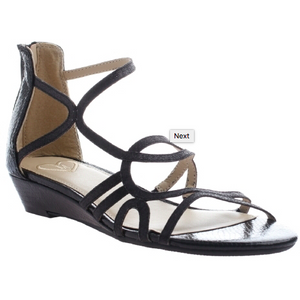 Black Sandal with ankle strap for tween girls in larger sizes