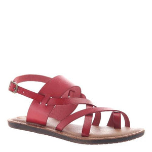 Red Straps Sandals for Tween Girls in Larger Sizes