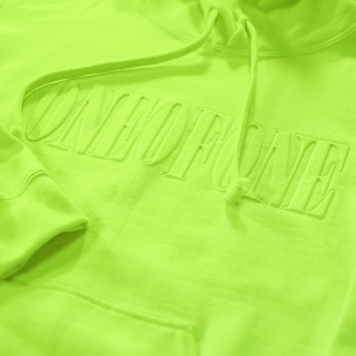 A ONE OF A KIND HOODIE- NEON GREEN