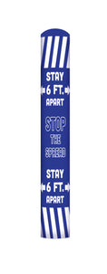 Stop the Spread bollard cover- Blue