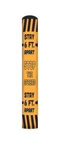 Stop the Spread bollard cover- Yellow