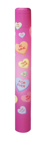 Candy Hearts bollard cover