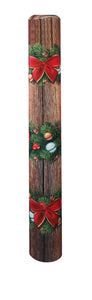Christmas Garland bollard cover