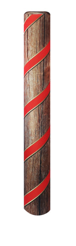 Holiday Ribbon bollard cover