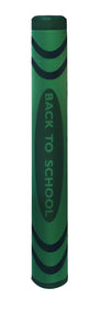 Back To School - Crayon bollard cover - green