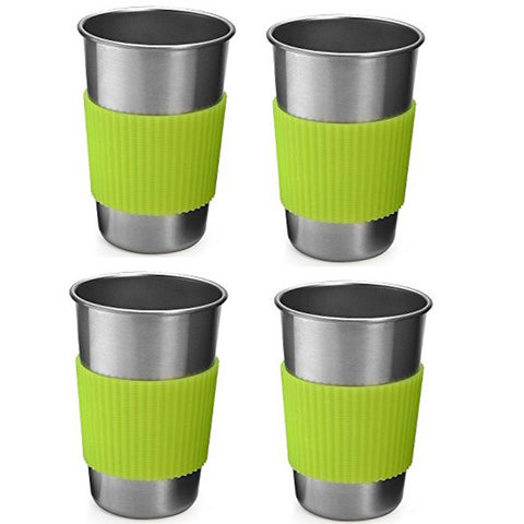 Campers Paradise Stainless Steel Camping Mugs - 4pc Set - Campers Paradise Store