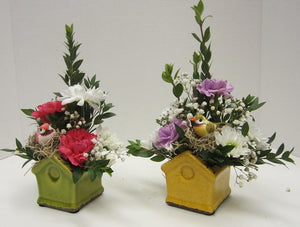 145 - Mini Birdhouse Arrangement