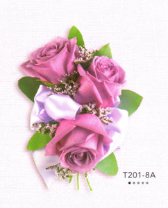 806 - Lavender Roses Corsage
