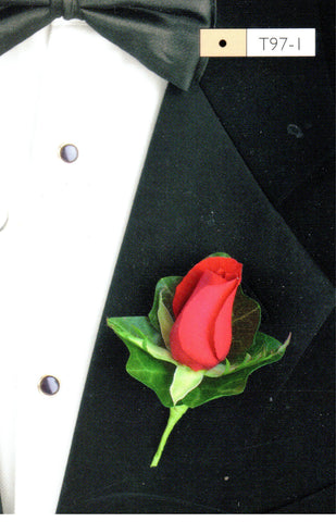 800 - Red Rose Boutonniere