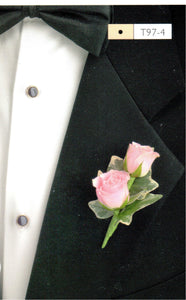 802 - Pink Rose Boutonniere