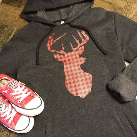 Buffalo Plaid Deer Sweatshirt