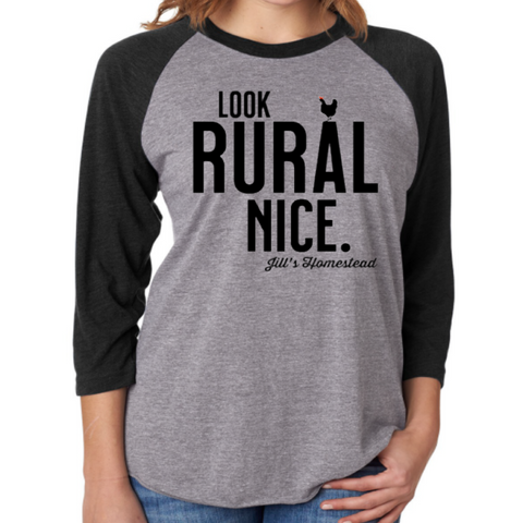 Look Rural Nice Baseball Tee