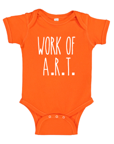 Work of A.R.T. onesie
