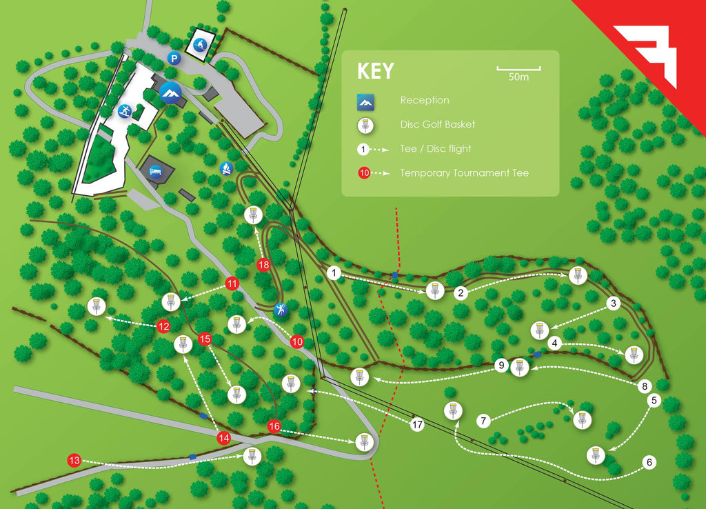 "The Mendip Disc Golf Course ""Red"" Competition Course"
