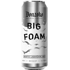 Donzoka Big Foam Rustic Lager 5%abv 500ml Can