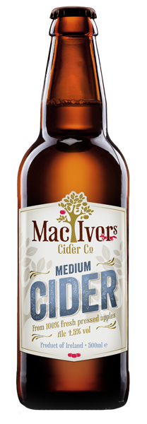 MacIvors Medium Cider 50cl 4.5% abv