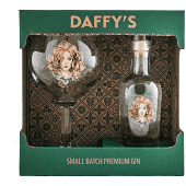 Daffy's Gin Gift Set 20cl Miniature and Goblet Glass.