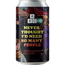 Alphabet Never Thought I would Need So Many People  6.5% abv 330ml Can