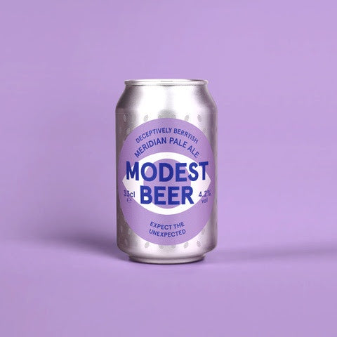 Modest Beer Meridian Pale Ale 4.3% abv 33cl Can