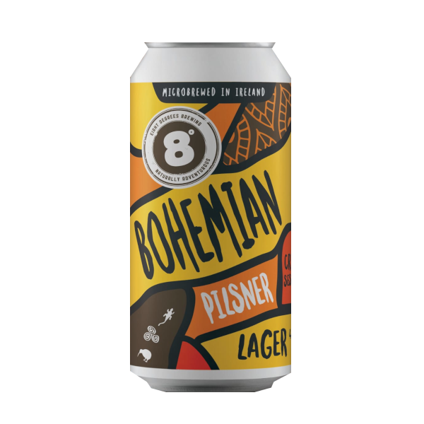 Eight Degrees Bohemian 44cl 4% abv