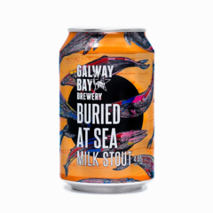 Galway Bay Buried at Sea 4.5% abv Milk Stout 33cl Can