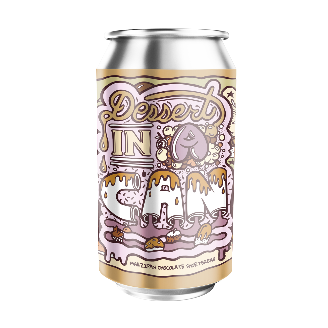 Amundsen Dessert In A Can Marzipan Chocolate Shortbread 10.5% abv 330ml Can