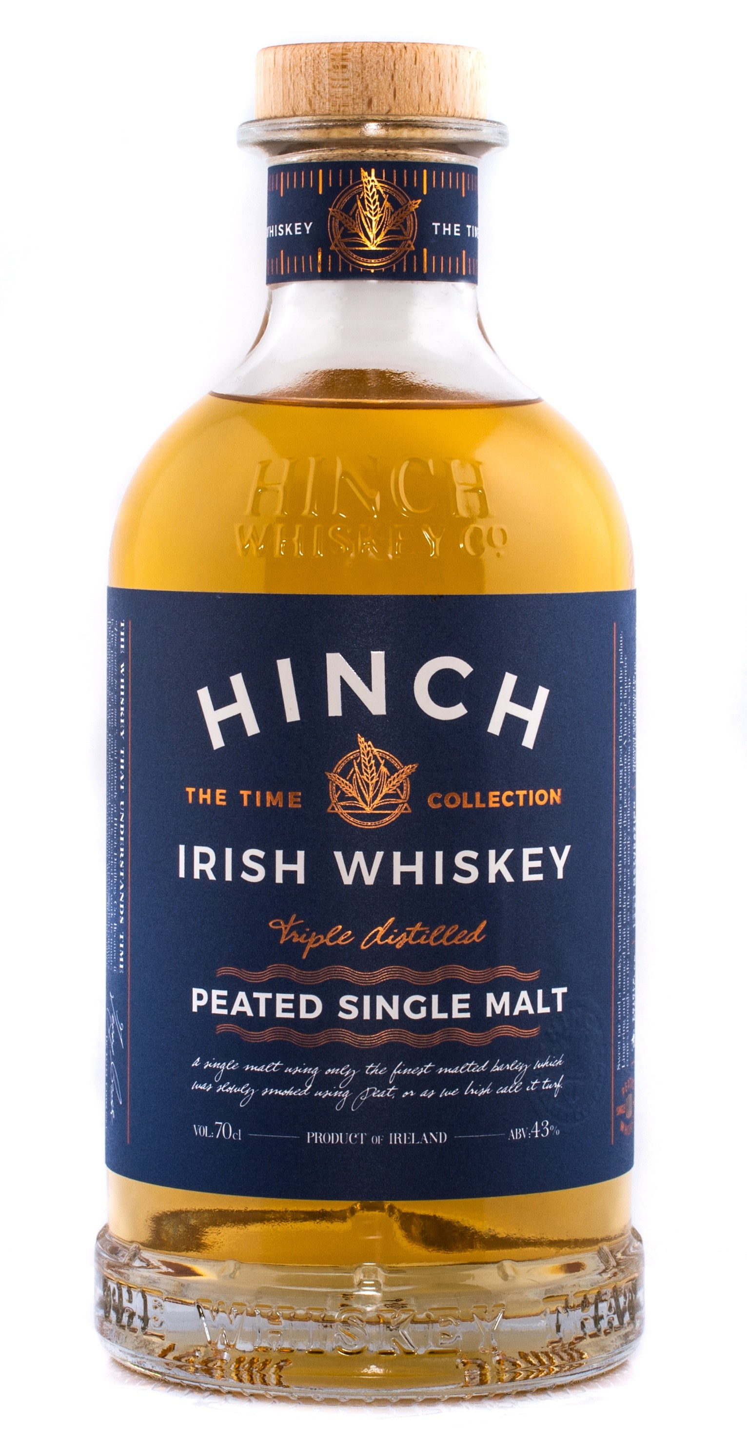 Hinch Peated Single Malt 43% abv 70cl