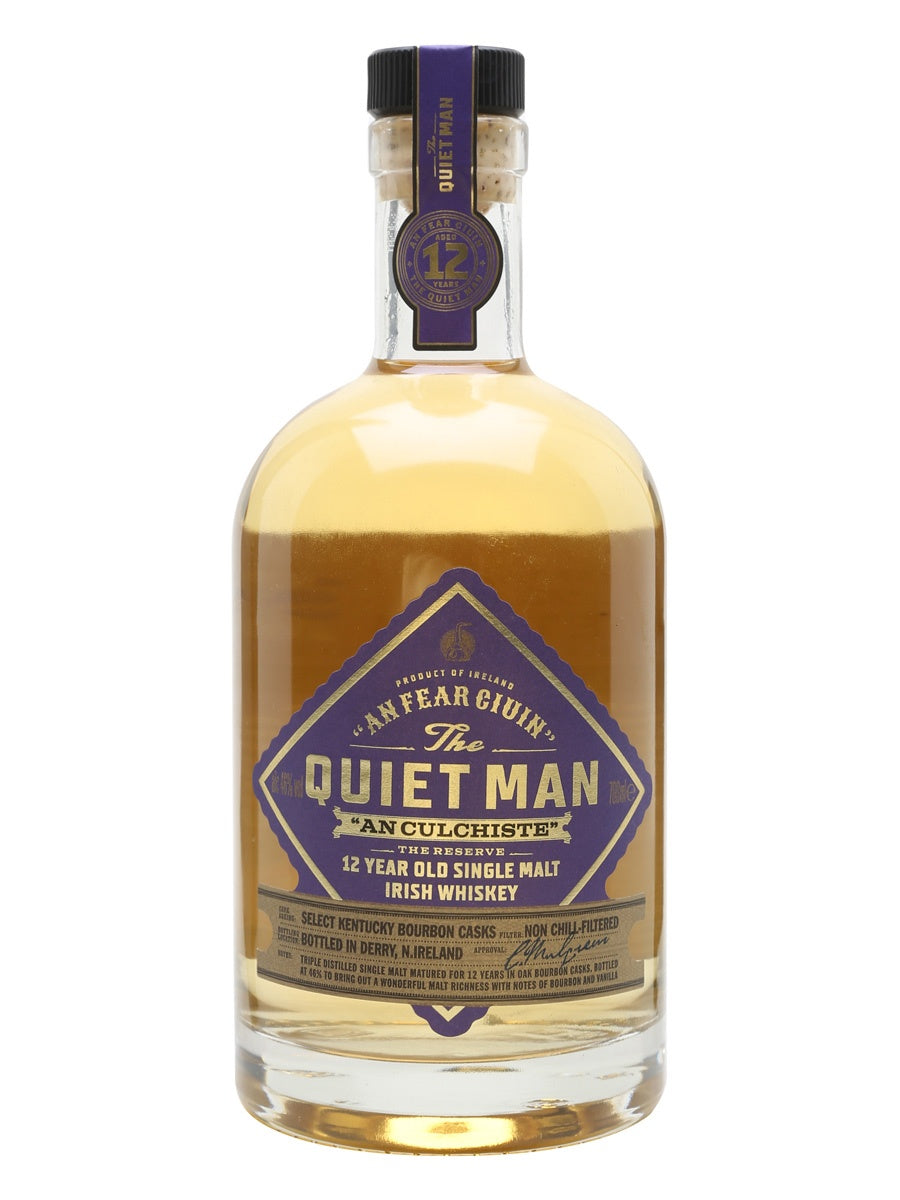 The Quiet Man 12 Year An Culchiste70cl 46% abv