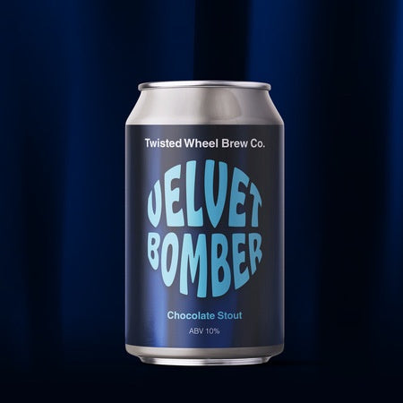 Twisted Wheel Velvet Bomber Chocolate Stout 10% abv 330ml Can
