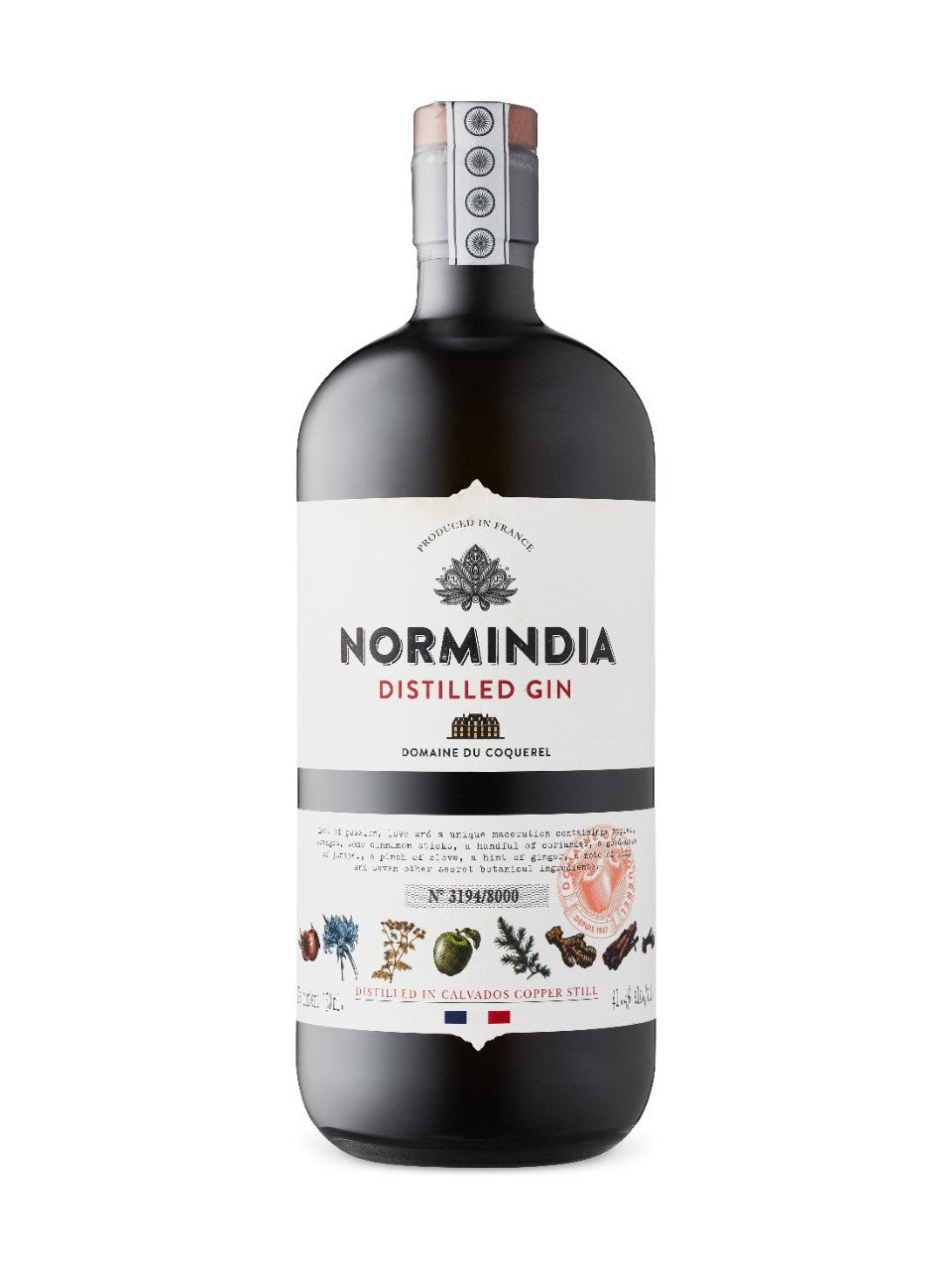 Normindia Gin 41.4% abv 70cl-Gift Boxed