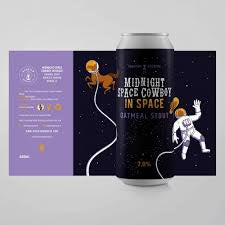 Phantom Midnight Space Cowboy 5.3% abv Oatmeal Stout 440ml Can