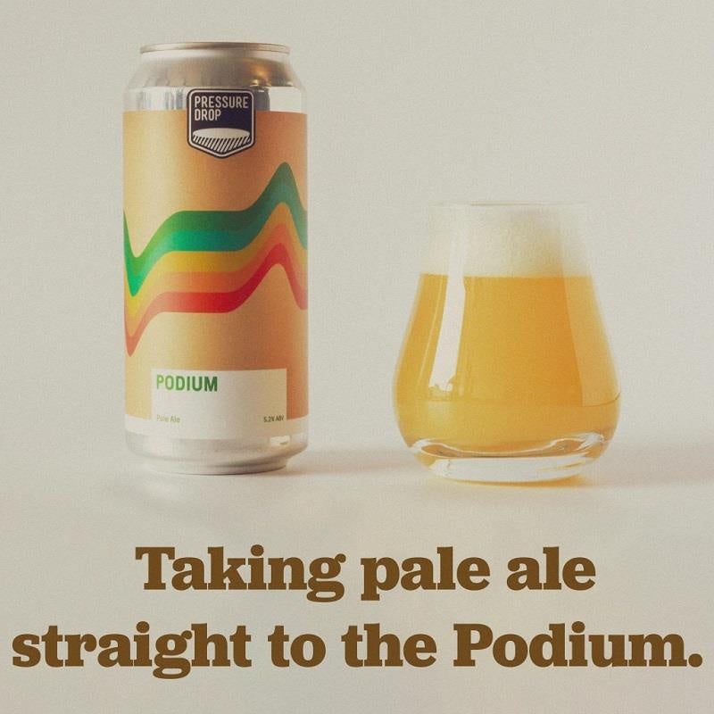 Pressure Drop Podium Pale Ale  5.2% abv 440ml Can