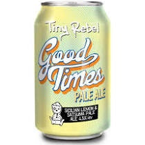 Tiny Rebel  Good Times Pale Ale 4.5% abv 330ml Can