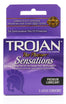 Trojan her pleasure sensations lubricated condom, 3 count