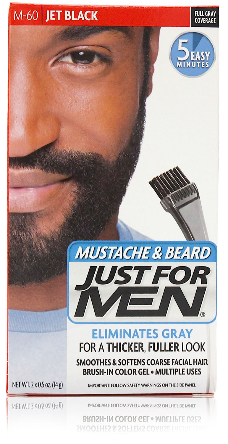 Just for men m-60 mustache & beard gel gel jet black (3 pack)
